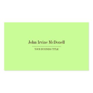 Plain & Simple Mint Green Business Card