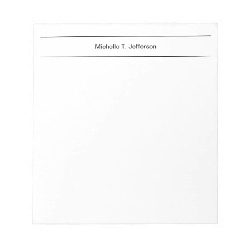 Plain Simple Modern Minimalist Notepad