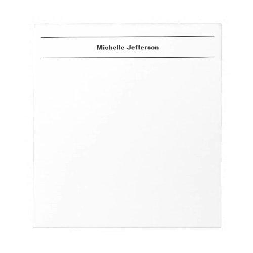 Plain Simple Modern Own Name Edit Minimalist Notepad