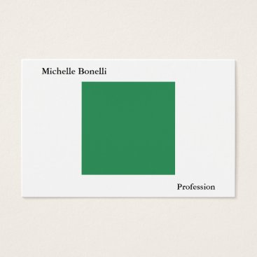 Beach Themed Plain Simple Sea Green White Minimalist Modern Business Card