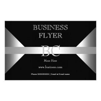 Plain Simple Silver Black White Monogram 4D3 Flyer