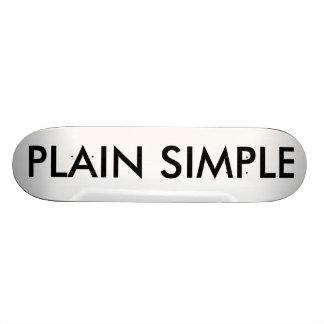 PLAIN SIMPLE CUSTOM SKATE BOARD