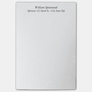 Plain Simple Unadorned Custom Name Optional Info Post-it® Notes