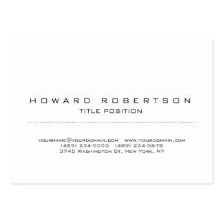 Plain Simple White Minimalist Legible Large Business Card