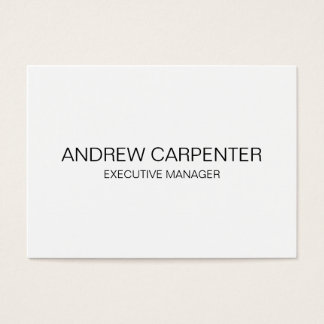 Plain Simple White Unique Modern Professional Business Card