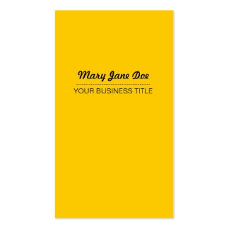 Plain & Simple Yellow Vertical Business Card