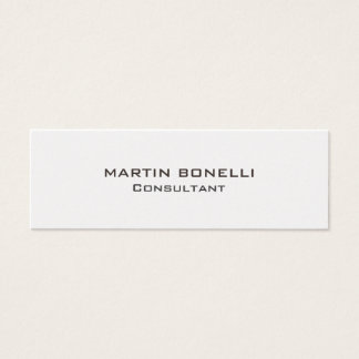 Plain Skinny Rounded Corner Business Card