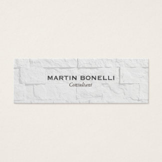 Plain Slim Grey Wall Effect Modern Business Card