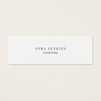 Plain Slim Professional Black White Mini Mini Business Card