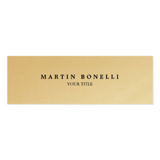 Plain Slim Professional Gold Modern Business Card