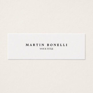 Plain Slim Professional Modern Business Card