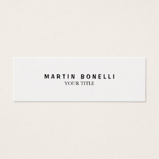 Plain Slim Professional Modern Mini Business Card