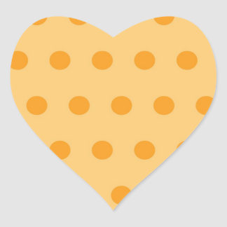 Plain small dots heart sticker