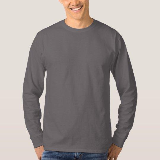 146eaf3edd79 Plain Smoke Grey Mens Basic Long Sleeve T-shirt   Zazzle.com