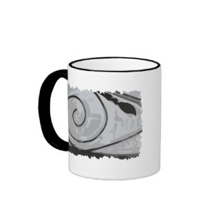 Plain Snow Spiral Coffee Mug