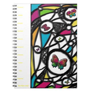 Plain Social Butterfly  By Aliya Leigh Spiral Notebook