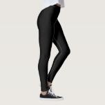 Plain Solid Colored Black Leggings