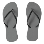 Plain Solid Colored Gray Flip Flops