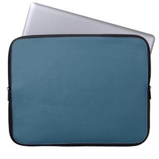 Plain Steel Blue Computer Sleeve