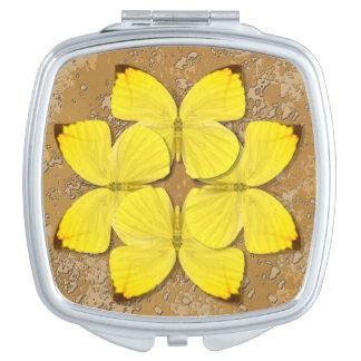 Plain Sulphur Butterfly Wheel Travel Mirrors