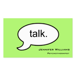 Plain Talk Psychotherapist Modern Business Card
