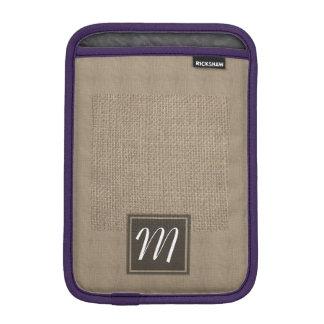 Plain tan burlap background template iPad mini sleeve