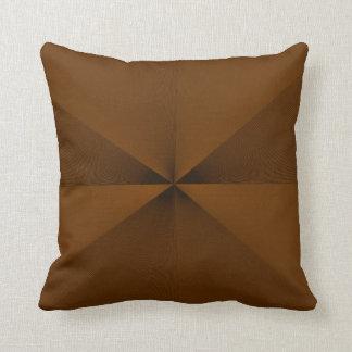 Plain Tan Two Toned >Throw Pillow