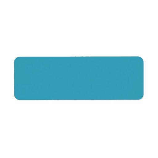 Plain teal blue background blank labels
