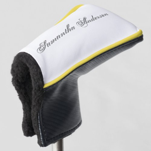 Plain Text Personalized Create Your Own Golf Head Cover
