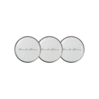 Plain Text Personalized Golfer Create Your Own Golf Ball Marker