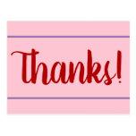"[ Thumbnail: Plain ""Thanks!"" Card ]"