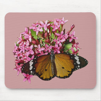 Plain Tiger Butterfly Mouse Pad