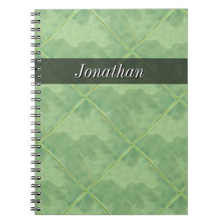 Plain Tile Ceramic Surface Gray any Text Spiral Notebook