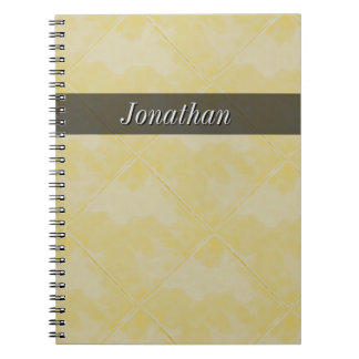 Plain Tile Ceramic Surface Yellow any Text Spiral Notebook