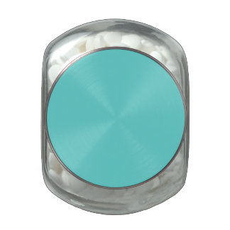 Plain Turquoise Glass Candy Jars