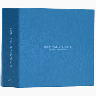 Plain Two Shades Of Blue Faux Leather Print Binder