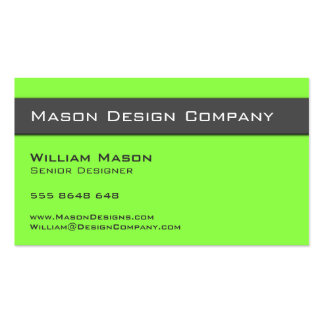 Plain Two Tone Lime and Gray Stylish Card Business Card