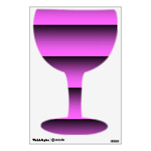 Plain Two Tone Pink Wine Glass Decal