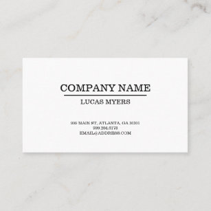 Typewriter font business cards templates zazzle plain typewriter font business card reheart Gallery