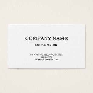 Typewriter font business cards templates zazzle plain typewriter font business card reheart Choice Image