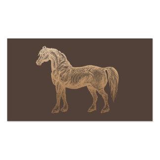 Plain Vintage Gold Horse Dark Tan Business Card