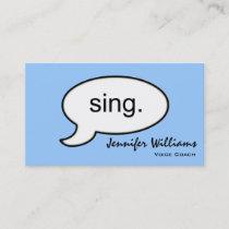 Plain Voice Coach Sing Modern Business Card