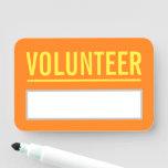 "[ Thumbnail: Plain ""Volunteer"" Name Tag ]"