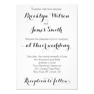Plain Wedding Invitations White