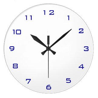 Plain White and Blue> Plain Kitchen Clocks