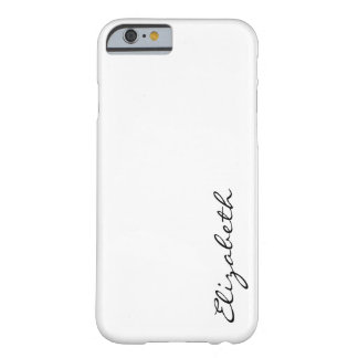 Plain White Background Barely There iPhone 6 Case