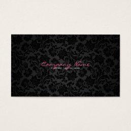 Plain White & Black Vintage Floral Damasks Business Card
