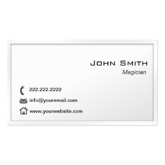 Plain White Border Magician Double-Sided Standard Business Cards (Pack Of 100)