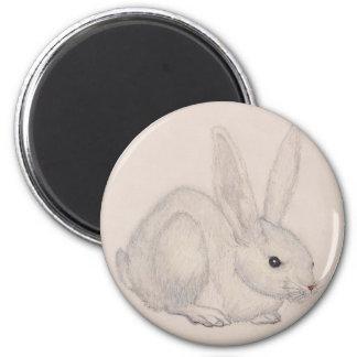 Plain White Bunny Customizable Refrigerator Magnet