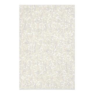 Plain White Confetti Glitter Stationery